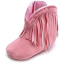 Estamico Baby Girls' Cowboy Tassel Boots