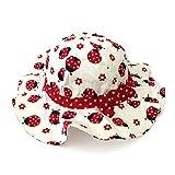 Lvaiz Baby Girls Bucket Summer Sun Hat Toddler Kids Breathable Foldable Cotton UVSun Protection Hats