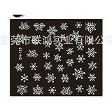 Fhouses creativi chiodo per Manicure per Manicure di Natale Adesivi per Unghie Adesivi per Unghie Impermeabili (3D Flower)
