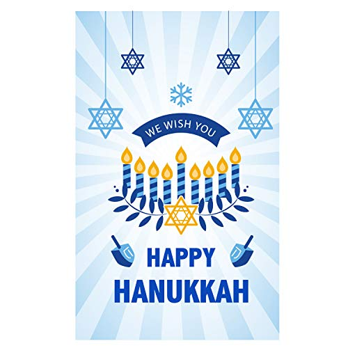 We Wish You Happy Hanukkah Garden Flag 12