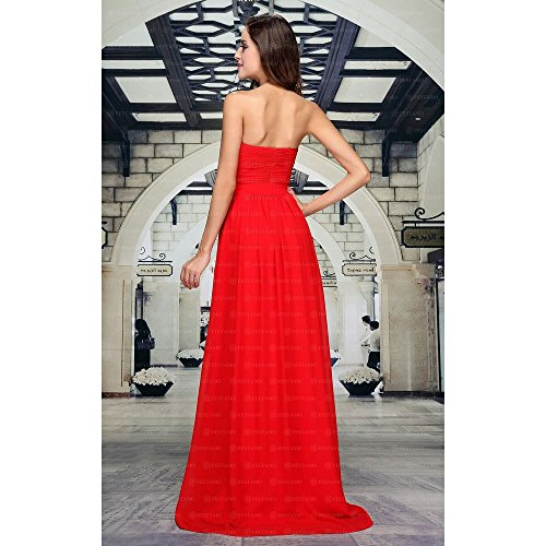 Rot Für Design Ball Maxi Kleid bei Ital Damen Festamo 7tx8wqO0U0