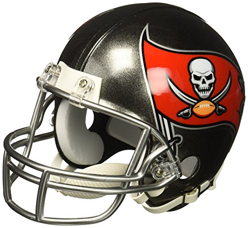 Riddell NFL Tampa Bay Buccaneers Replica Mini Helmet, Medium, Black/Red ()