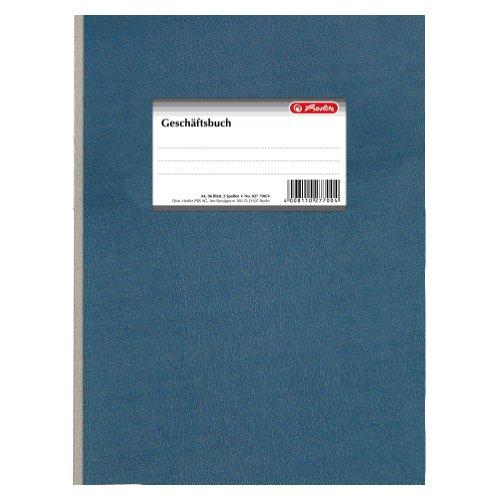 Herlitz 277004 Geschäftsbuch A4 liniert, 96 Blatt, 2 Spalten, Papier 80g/m²
