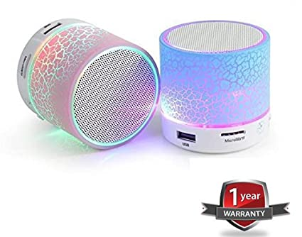 Advotis world Rechargeable Bluetooth Outdoor Speaker with LED Light for Xiaomi, Lenovo, Apple, Samsung, Sony, Oppo, Gionee, Vivo Smartphones