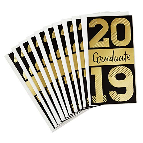 Hallmark 2019 Pack of Graduation Cards Money Holders or Gift Card Holders, It's Your Moment (10 Cards with Envelopes) (Card Holders Gift Graduation)