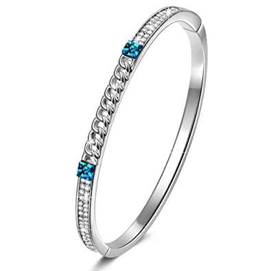 8e97138963ed5 Amazon.com: J.NINA Bangle Bracelet with Crystals from Swarovski ...