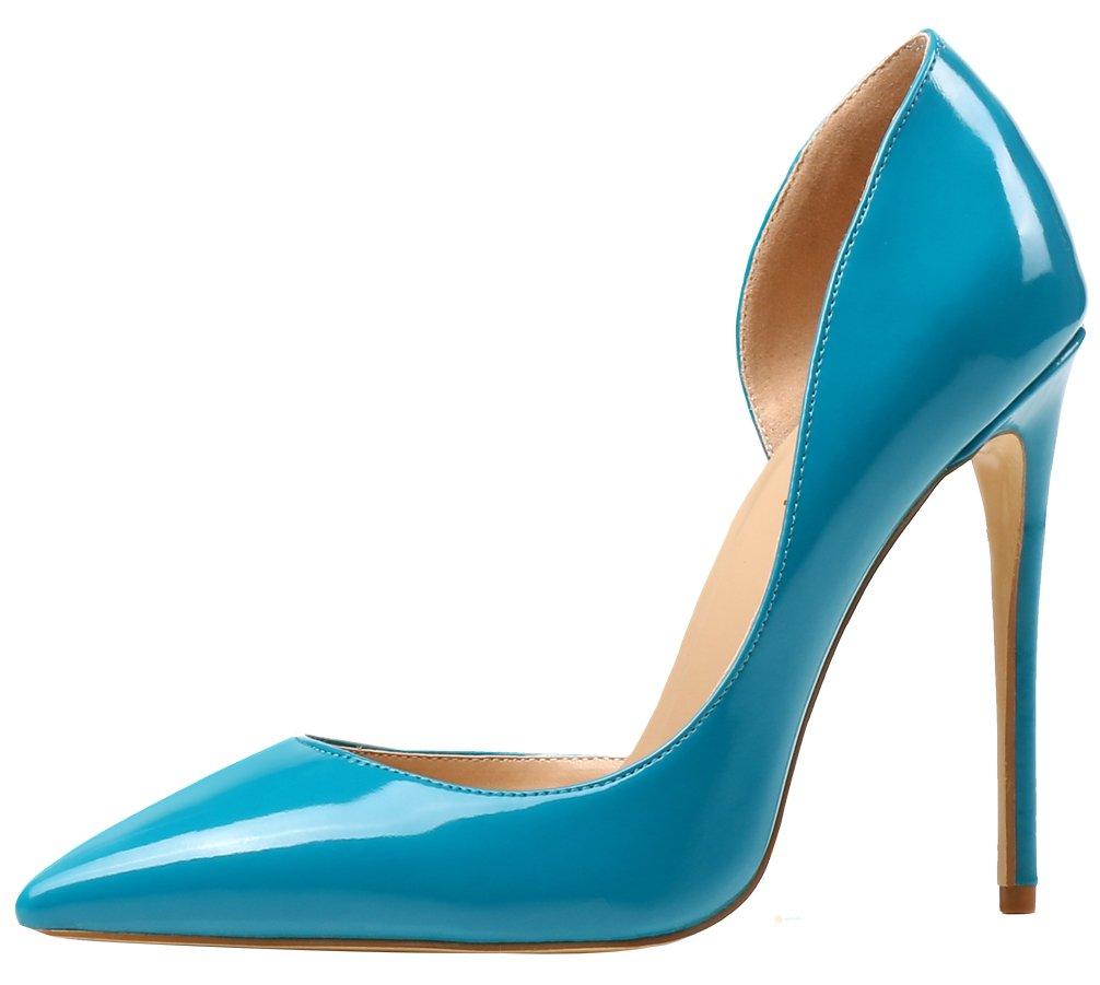 AOOAR AP37 - Zapatos de Vestir de Sintético para Mujer 45 EU|Türkis/Lackleder