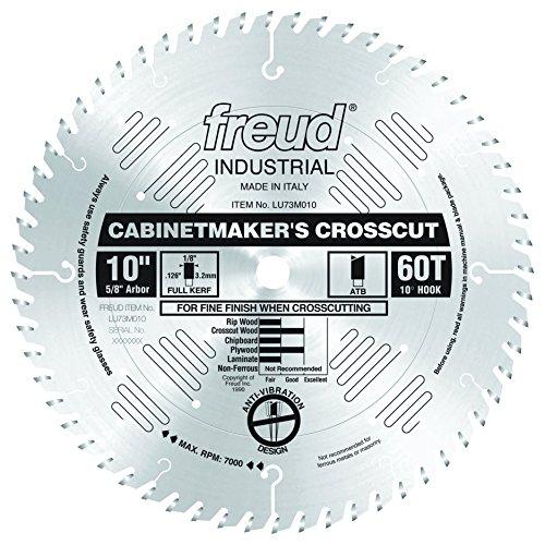 Freud LU73M010 10-Inch 60 Tooth ATB Cabinetmaker