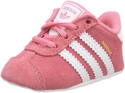 adidas Baby Girls' Gazelle Crib Shoes