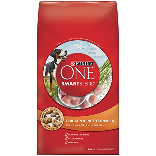Purina ONE SmartBlend Chicken & Rice Formula NATURAL Adult Dry Dog Food - (1) 16.5 lb. Bag (Dog 1)