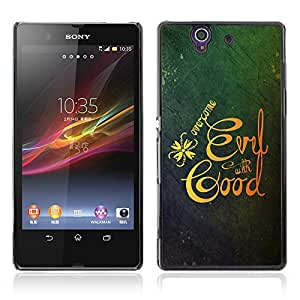 Bible Case Cover SONY XPERIA Z / OVERCOME EVIL WITH GOOD /
