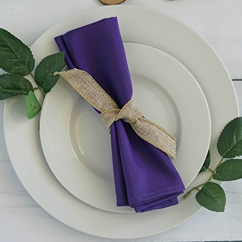 BalsaCircle 20 pcs 17-Inch Purple Polyester Luncheon Napkins - for Wedding Party Reception Events Restaurant Kitchen Home