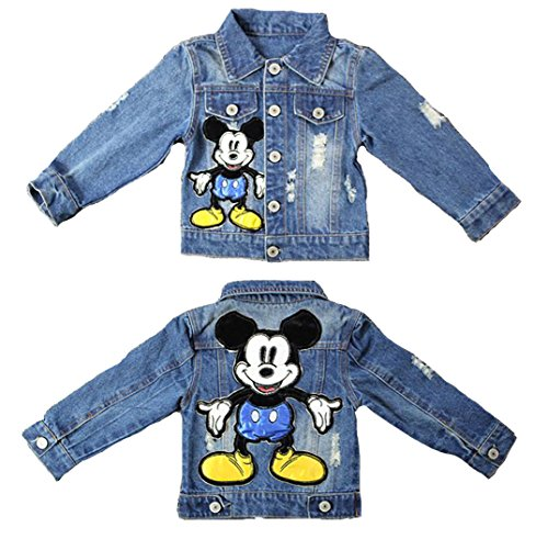 Mickey Denim - Little Toddler Boys Mickey Mouse Outerwear Denim Jeans Jacket Coats Blue 5t