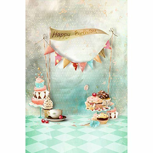 Funnytree 3x5ft Cake Smach 1st Birthday Photography Backdrop
