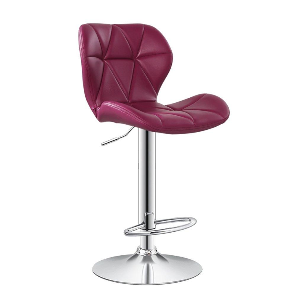 13 ASJHK Chair, Bar Chair Chair Lift Backrest redate Barstool Tall Stool Chair (color    4)