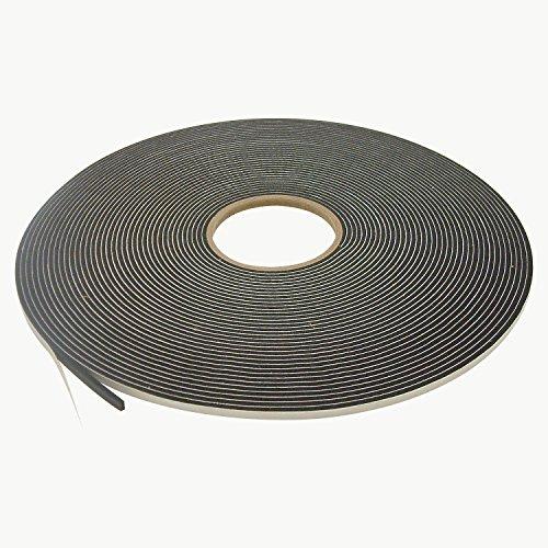 JVCC SCF-01 Single Coated PVC Foam Tape: 1/8 in. thick x 1/4 in. x 75 ft. (Black)