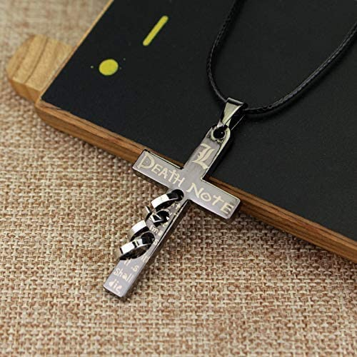 LUKADO Anime Cosplay Accessories Novelty Cross Necklace for Death Note Lovers Fans