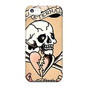 Ideal Abrahamcc Case Cover For Iphone 5c(ed Hardy Eternal Love), Protective Stylish Case