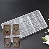 Latest 24 cavities Poker Shape polycarbonate chocolate mold candy cookie biscuit chips moulding tool home diy baking supplies