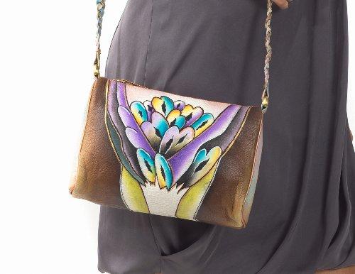 Zimbelmann Bea Umhängetasche aus echtem Nappa-Leder - handbemalt