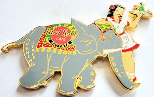 (2001 Grand Opening Staff Pin Hard Rock Cafe Pattaya Thailand )