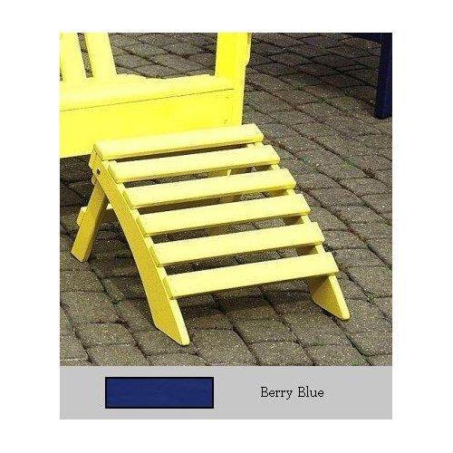 Prairie Leisure Design Adirondack Ottoman - Berry Blue (Adirondack Blue Berry Chair)