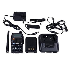HESENATE HT-UV8R Two Way Radio 8-Watt High Power Dual Band 136-174/400-520MHz Tri-Power Output 8/4/1W w/ 1800mAh Battery Ham Radio
