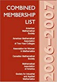 Combined Membership List 2006-2007, American Mathematical Society, 0821839098