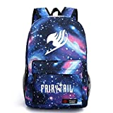 YOYOSHome Luminous Japanese Anime Cartoon Cosplay Bookbag College Bag Backpack School Bag (Fairy Tail Blue)