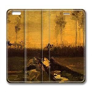 DIY Vincent Van Gogh Design Leather Case for Iphone 6 Plus Sunset Glow