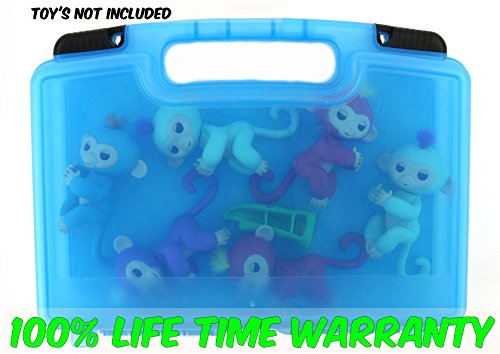 Costumes Teddy Ruxpin (Life Made Better Toy Storage Organizer - Compatible With Fingerlings Monkeys - Durable Carrying Case-)