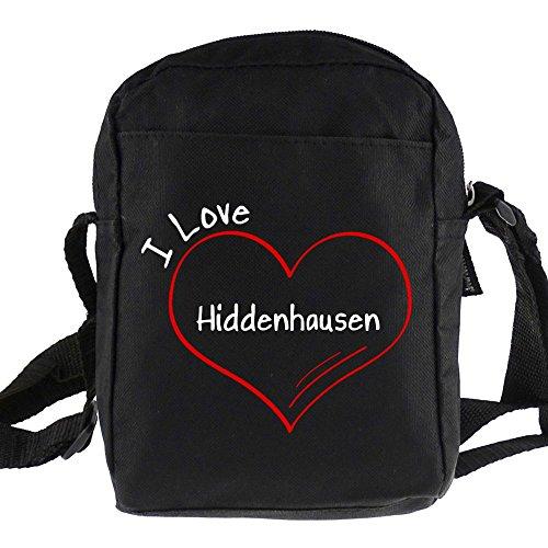 Umhängetasche Modern I Love Hiddenhausen schwarz