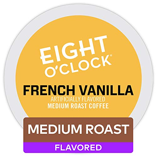 (Eight O'Clock Coffee French Vanilla, Single Serve Coffee K-Cup Pod, Medium Roast, 72)
