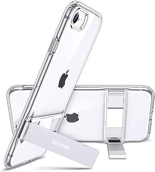 ESR Coque pour iPhone Se 2020, Coque Silicone avec Support Béquille Métal Multi-Angles, Protection Double Couche Multi-Fonctionnel pour iPhone SE/8/7 ...
