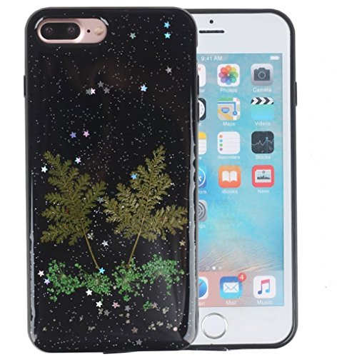 Shopping_Shop2000 Handmade Daisy Floral Real Pressed Dried Flowers TPU Gel Rubber Skin Silicone Protective Plastic Soft Phone Case for iphone 7 Plus 5…