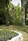 Panacea 88864 Kinetic Art Windmill with Vertical Leaves Spinner, 63-Inch Height, Bronze Finish