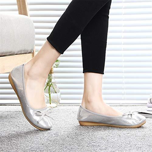 fondo maternità morbido balletto pieghevoli scarpe donna viaggio comode da scarpe basse scarpe antiscivolo portatili basse Scarpe da scarpe da Gold FLYRCX OqHUT6