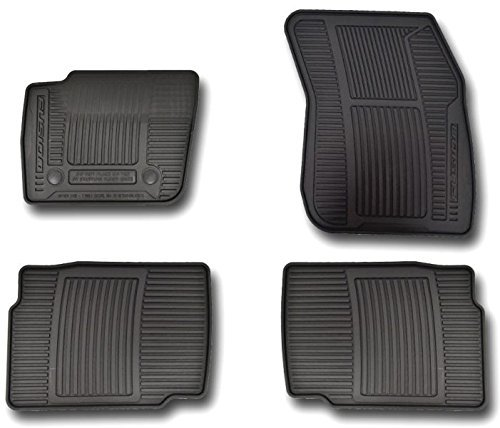 Oem Factory Stock Genuine 2013 2014 2015 Ford Fusion Black Ebony Rubber All Weather Floor Mats Set 4-pc Front & Rear