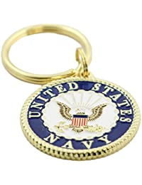 US Navy Crest Keychain Patriotic Key Rings Military Gifts Collectibles Men Women