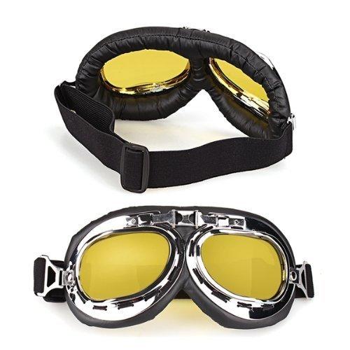 TOOGOO (R) 2 x Gafas de Proteccion Moto Motocross Lentes Amarillos Seguridad SPAGT44405