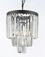 Odeon Empress Crystal (tm) Glass Fringe 3-tier Chandelier Chandeliers Lighting Mini Pendant