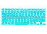 """Kuzy - TEAL Hot Blue Keyboard Cover Silicone Skin for MacBook Pro 13"""" 15"""" 17"""" (with or w/out Retina Display) iMac and MacBook Air 13-inch - Teal"""
