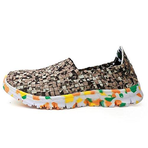 piatto Marrone nuevo elastica Marrone Color e shoes da Gird Shufang Sneaker on uomo da EU Dimensione Fascia Pattern sportive Slip donna Scarpe 44 2018 Tacco SAEEqwO