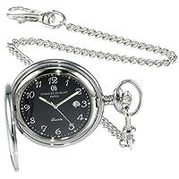 Charles-Hubert, reloj de bolsillo de cuarzo de acero inoxidable Paris 3599-B