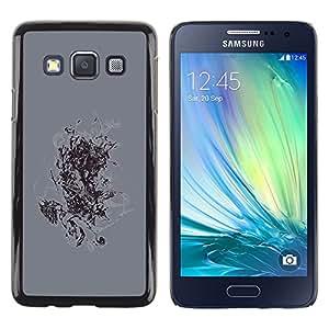 TopCaseStore / la caja del caucho duro de la cubierta de protección de la piel - Abstract Painting - Samsung Galaxy A3 SM-A300