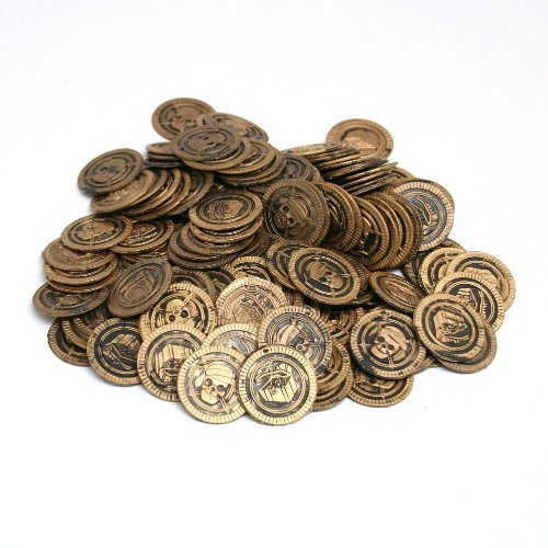 Fun Express Pirate Party Favor Gold Play Coins 144pieces]()