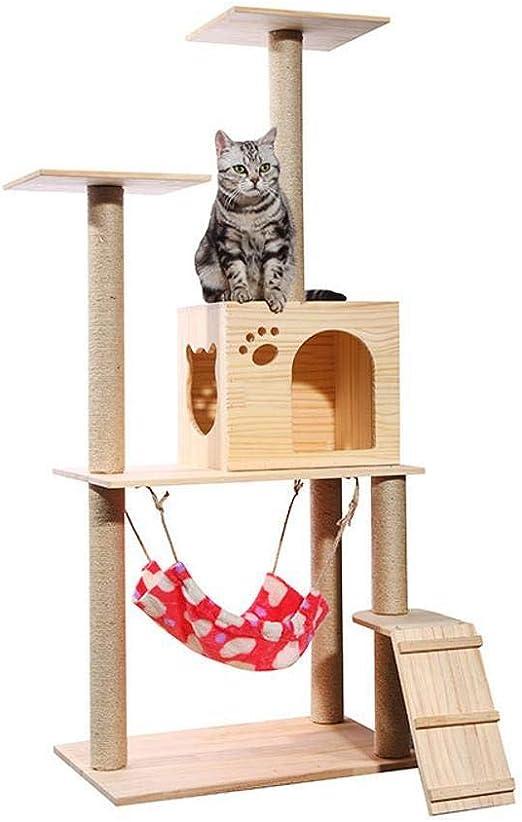 Axiba Árbol para Gatos,Marco Sube Gato Cat Plataforma sisal Gato árbol Cat Nido 135 cm * 40 cm * 60 cm: Amazon.es: Productos para mascotas