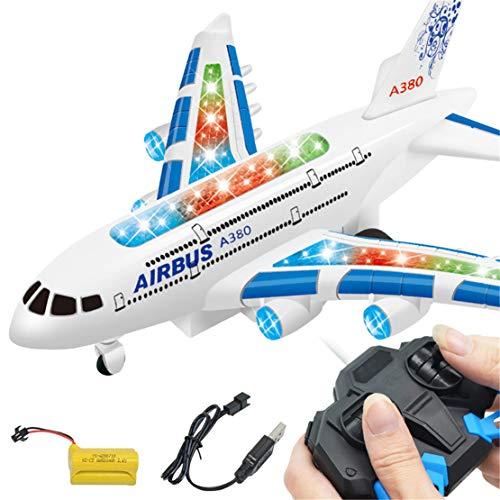 WEIGZ Juguete teledirigido eléctrico del Aeroplano del Juguete Modelo-Jugando en el Suelo,Blue