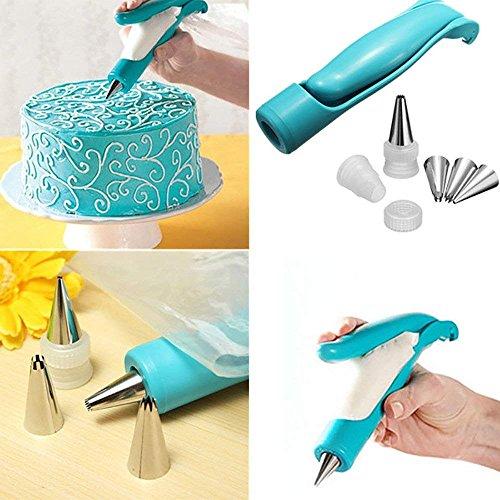 Hofumix Cake Decorating Tool Pastry DIY Cake Decorating Pen Icing Piping Tips Nozzles Bag Sugar Fondant Kit Icing Pen Piping Tips Bags for Baking 7Pcs/Set