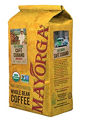 Cafe Cubano Dark Roast, 2 or 5 Pound, Whole Bean Coffee, Direct Trade, 100% USDA Organic Certified, Non-GMO, Kosher
